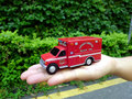 E RTL 1:64 County Rescue EMS RED Ambulance boutique alloy car toys for children kids toys Model (bulk) no packaging