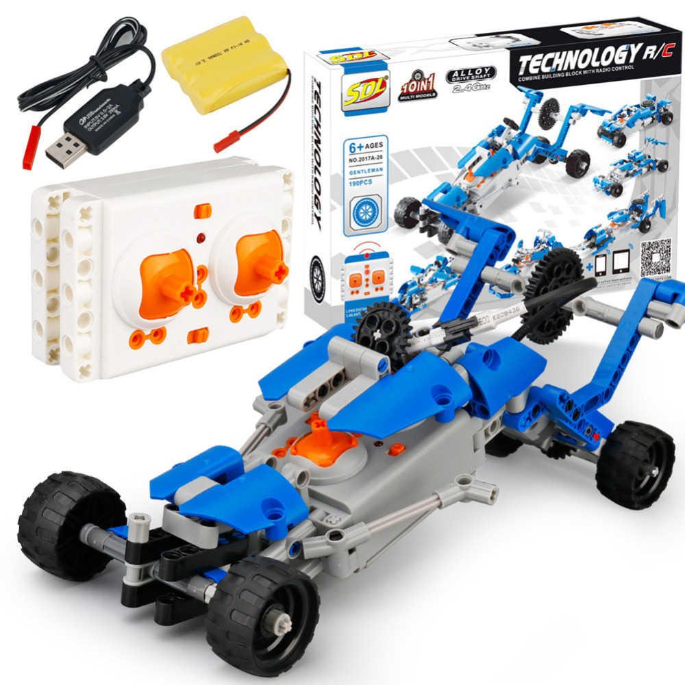 SDL 2017A-26 2 Channels Educational Intelligent DIY Building Block High Speed Remote Control Vehicle Car