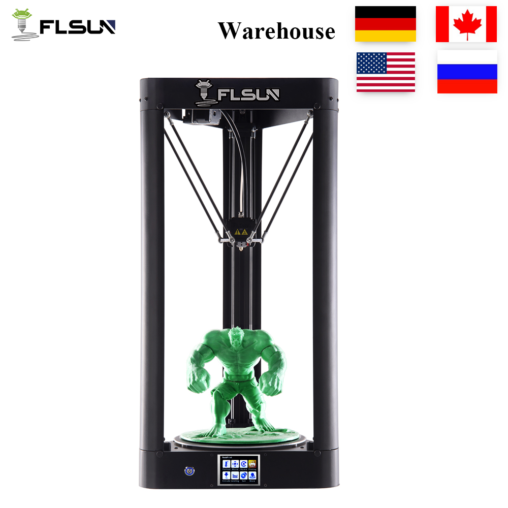 2018 High Speed 3d Printer Large Size Metal Frame Touch Screen FLSUN-QQ 3d Printer Auto-level Heated Bed Wifi Filament 3D Delta new precision reprap x5 desktop 3d printer big lcd display diy 3d printers kit heated bed with 1 roll filament 8gb sd