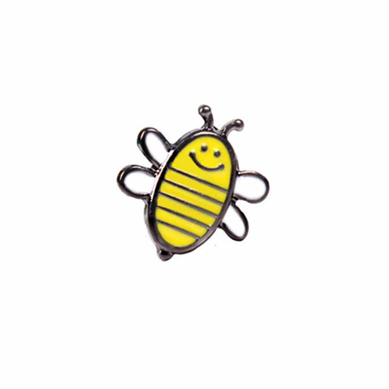 Suki Lebah Madu Keluarga Pin Lucu Kartun Bros Lebah Lencana Keras Pin Enamel Deniam Jaket Ransel Perhiasan Aksesoris Hadiah