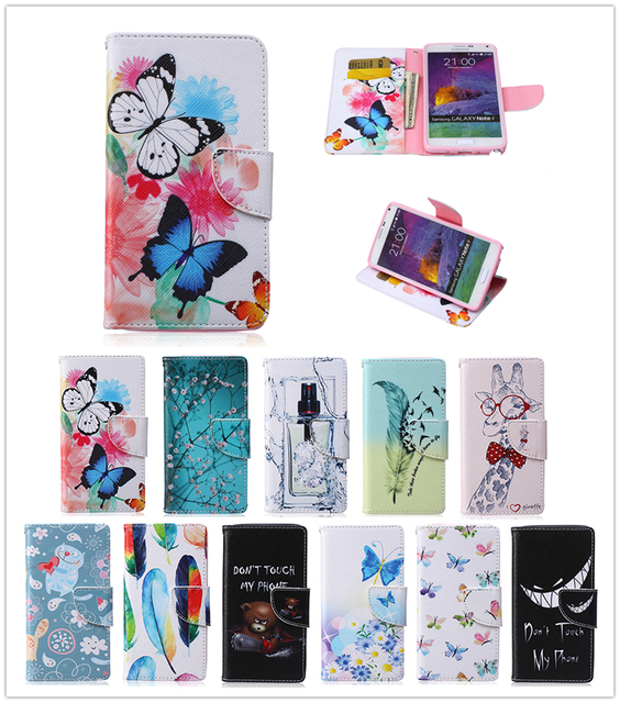 Leather Case For Samsung Galaxy Note 4 Note4 N910p N910F N910C N910G N910v SM-N910F SM-N910H SM-N910v SM-N910p Flip Phone Cover