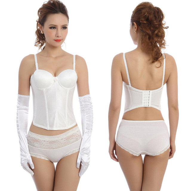 3d8c863aedc Super Deal Women wedding dress Corset top Sexy corselet overbust Corsets  And Bustiers Plus Size 2018 Fashion Bridal white Corset