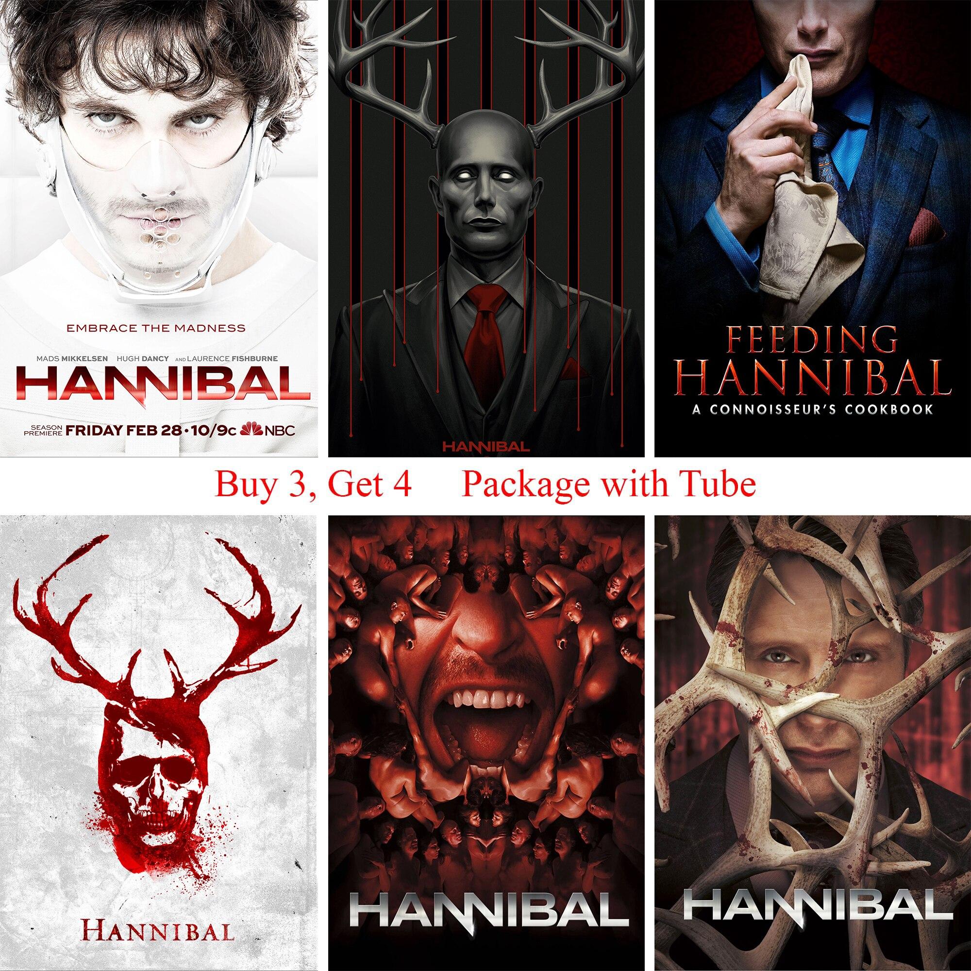 "New Season Hannibal TV Series  Art Fabric Wall Poster 36/""x24/""  029"