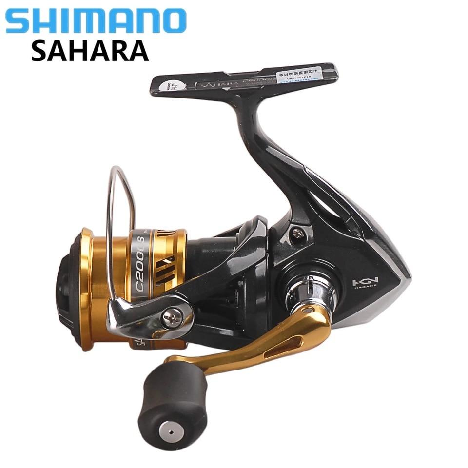 100% Original SHIMANO SAHARA C2000HGS 2500HGS C3000 Spinning Fishing Reel 5BB Hagane Gear Saltwater Carp Fishing Reel Carretilha shimano sahara c3000 fi