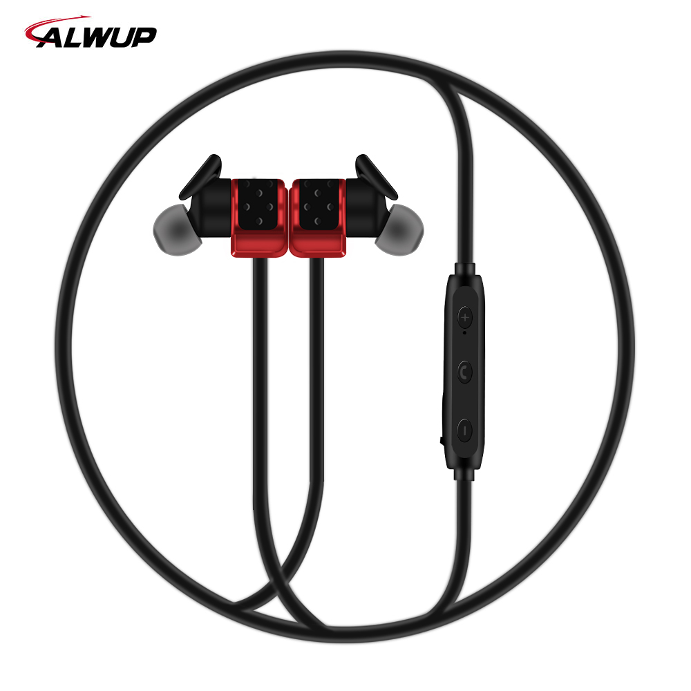 ALWUP UPLXA Bluetooth Earphones Wireless Headphones for phone in-ear Earphone with mic HIFI Sport Headset 6H Music Time kz ed8m earphone 3 5mm jack hifi earphones in ear headphones with microphone hands free auricolare for phone auriculares sport