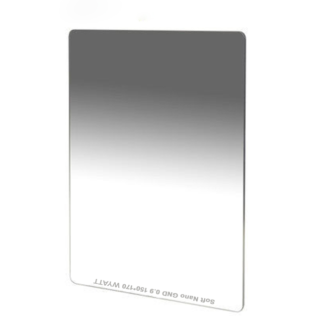 WYATT 150x170mm MC Multi coated Soft Hard Reverse Graduated Neutral Density GC GRAY GND1.2 0.9 0.6 ND16 8 4 Optical Glass Filter