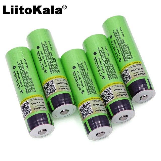 Liitokala Original NCR18650B 3.7V 3400mah 18650 rechargeable lithium battery Suitable for Panasonic flashlight battery (No PCB)