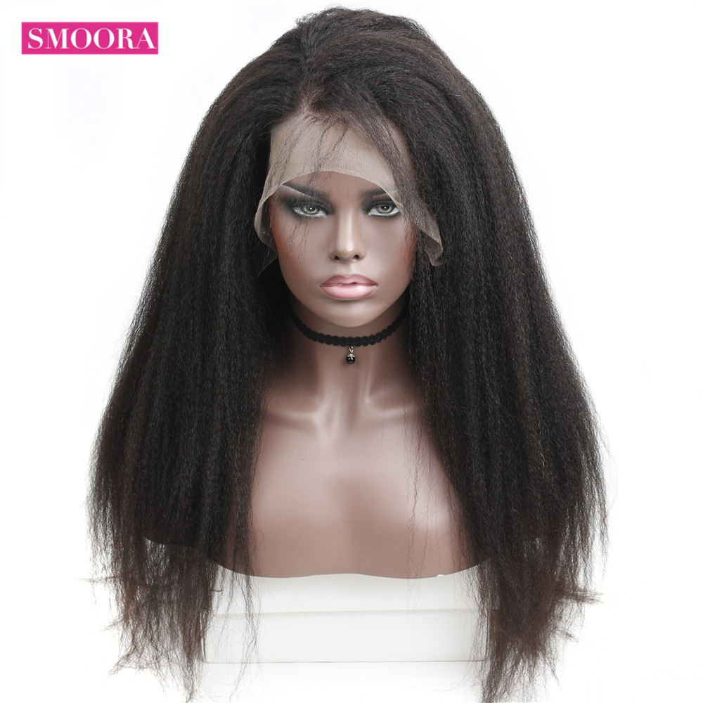 Smoora 360 Lace Frontal Wig Pre Plucked With Baby Hair   Afro Kinky Straight 360 Lace Frontal  Wigs 5
