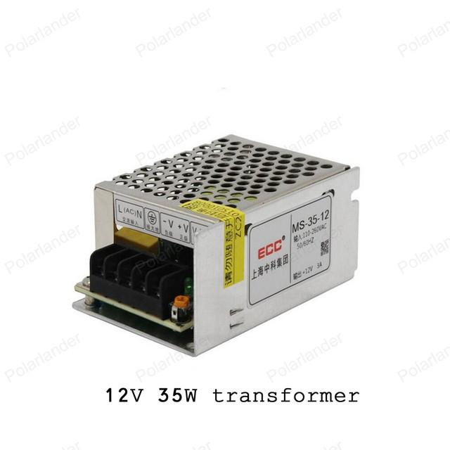Carcasa de aluminio de Alta Potencia de Iluminación Transformadores de Entrada AC 110/220 V de salida DC 12 V 35 W led strip luz de conmutación adaptador de corriente