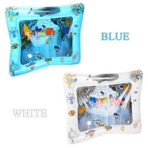 Image 5 - PVC gonflable bébé tapis deau Fun activité Center de jeu pour enfants tapis de Camping nourrissons exquis coussin deau tapis de Camping