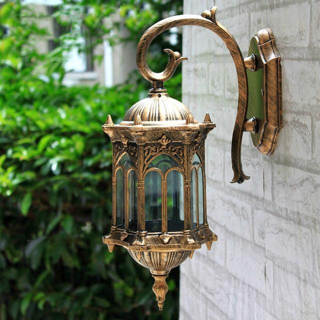 Europe outdoor wall light,rain-proof villa garden lighting fixtures yard gateway wall sconce retro decoration lamp