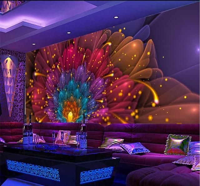 3D Photo Wallpaper Murals Colorful Flower Nightclub Clubhouse Bar KTV Ballroom Background Wall Decor Paper