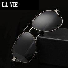 LA VIE Polarized Classic Aviator Design Fashion Men Sunglasses Coating Lens Male Sun Glasses for gift