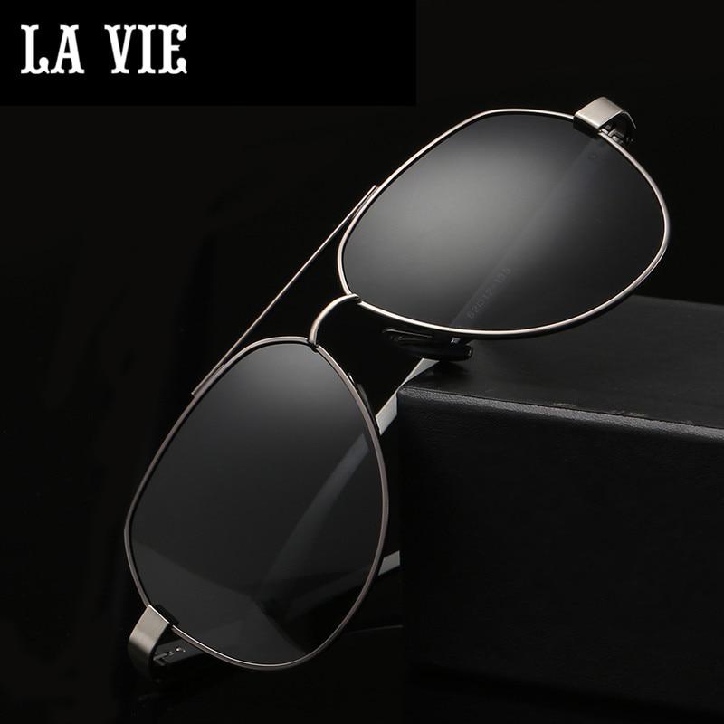 LA VIE Polarized Classic Aviator Design Fashion Men font b Sunglasses b font Coating Lens Male
