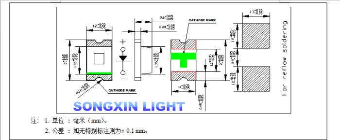 100 قطعة المصابيح سمد 0805 الأحمر الثنائيات سمد LED 0805 سمد ديود 2.0*1.2*0.8 مللي متر 0805 سمد led الأحمر الباعثة للضوء ديود 620-625nm