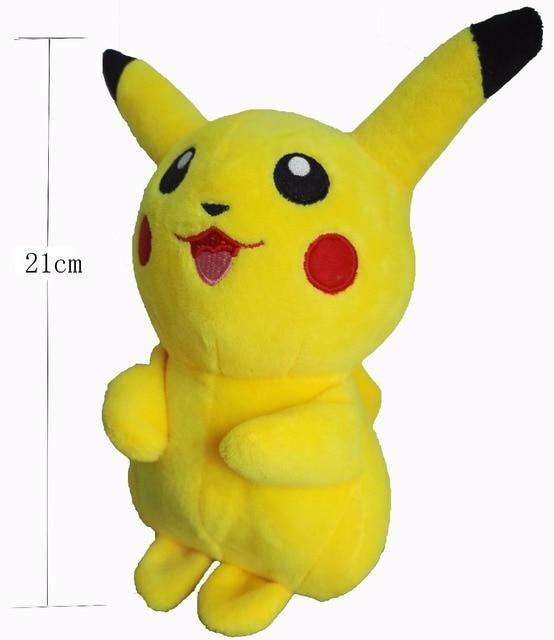 mignon doux vilain carton monstre jaune f e pikachu en peluche en peluche jouet pour enfants. Black Bedroom Furniture Sets. Home Design Ideas
