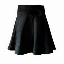 NEW Spring and summer style ponte fabric grey black girls knee skirt