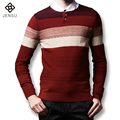 2016 New Men Sweaters and Pullovers Men's Casual Fashion Slim Fit Large Size Long Sleeved O Neck Knitted Sweaters Pullovers Male