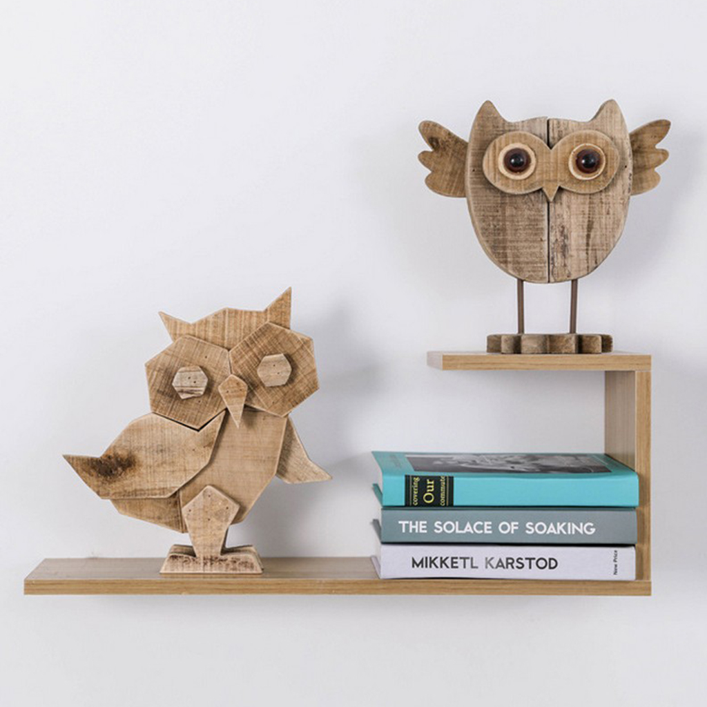 1 PC Treibholz Eule Vogel Figurine Ornament Tier Statuen, handgemachte Holz Geschnitzte Eule Prunkstück Art Home Decor/Weihnachten Kunst