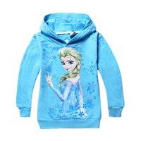 Sırasında çocuklar bahar ve Sonbahar Kış Moda Kazak Kız Elsa ve Anna karikatür karakterler kapüşonlu ceketler