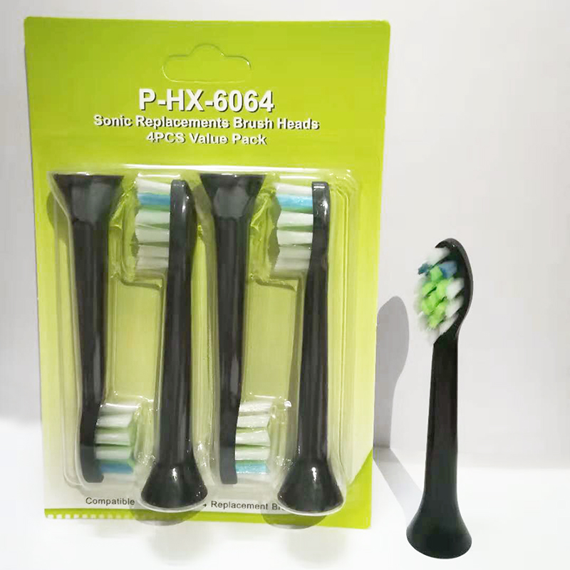 4pcs/lot HX-6064 Electric Toothbrush Heads Compatible Brush Heads For Philips Sonic Replacement Heads P-HX-6064