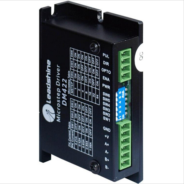 Leadshine DM422 2-Phase DSP Digital Stepper Drive with 20-40VDC Voltage and 0.3 - 2.2A Output Current