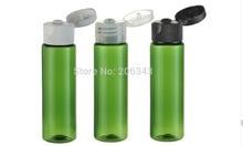 30ml green plastic PET bottle toilet water bottle lotion bottle with flip lid