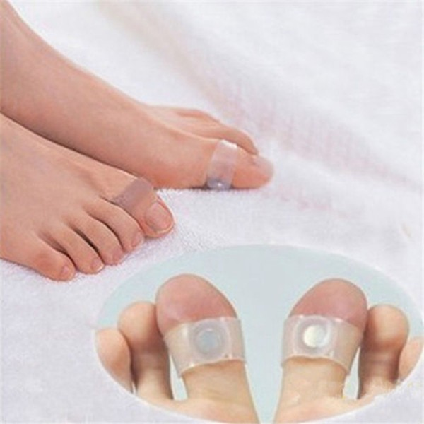 2pcs/pair Magnetic Therapy Slimming Products Fast Lose Weight Burn Fat Reduce Fats body Silicone Foot Massage Magnetic Toe Rings 7