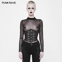 Punk Rave Rock Pu Leather Cosplay Lacing Steampunk Gothic Sexy Waistband Girdle Gothic Visual Kei WS263