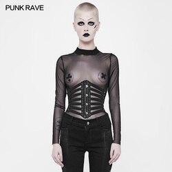 Punk Rave Rock Pu Leder Cosplay Schnürung Steampunk Gothic Sexy Bund Gürtel Gothic Visuelle Kei WS263