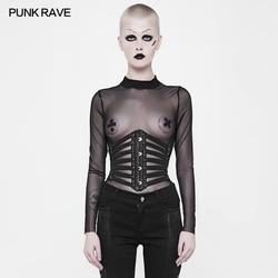 Rave Punk Rock Pu cuero Cosplay cordones Steampunk gótico Sexy cintura faja gótico Visual Kei WS263