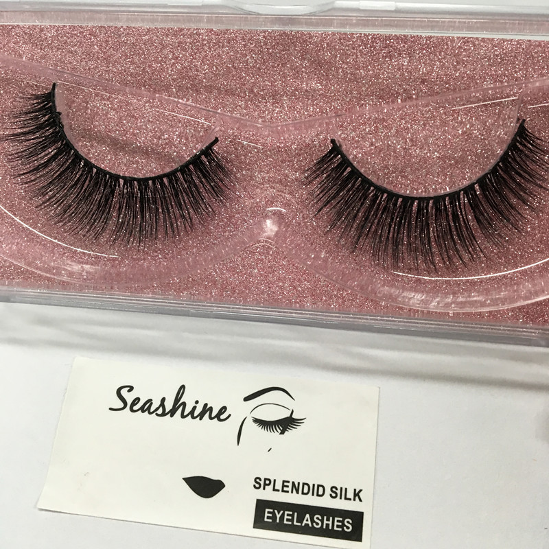 10 Pair High Quality False Eyelash Extension 3D Mink Strip Lashes Faux Natural Mink Eyelashes Extension Packaging in False Eyelashes from Beauty Health