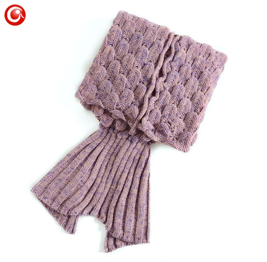 Baby Knitted Crochet Mermaid Blanket For Mother&Baby Infant Newborn Handmade Bed Wrap Throw Sleeping Bag Soft (9)
