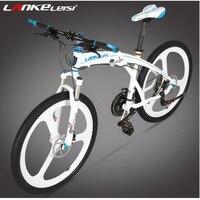 L260103 1/26 inch folding mountain bike / Aluminum alloy rounds 27 speed oil dish off road folding bike/Electrostatic paint