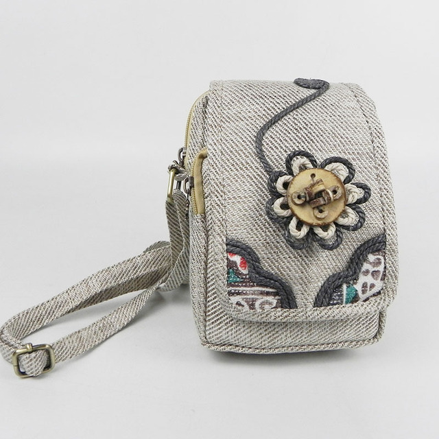 Featured Embroidery Ethnic Linen Handbag Messager Women Hand-woven Shoulder Crossbody Fashion Casual Girl Holiday Gift Hand Bag