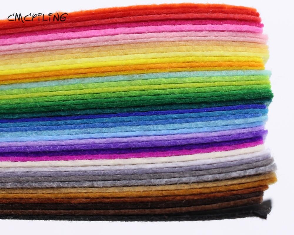 CMCYILING 40 смешанных цветов мм 1 мм твердые фетровые листы фетр ремесло для фетра DIY ремесло искусство, ремесла и Швейные Записки Hometextile