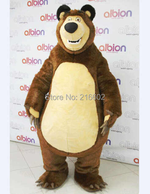 Costumi cosplay Orso Ursa Grizzly Costume Della Mascotte Cartoon Character Spedizione Gratuita