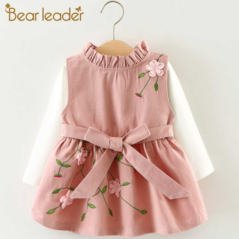 409d10718c7 Bear Leader 2018 Newest Style Autumn Baby Girls Dress Set Child Cotton Top  + Toddlers Flower