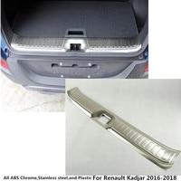 Free Shipping For Renault Kadjar 2016 Car Inner Inside Rear Bumper Trim Stainless Steel Scuff Sill