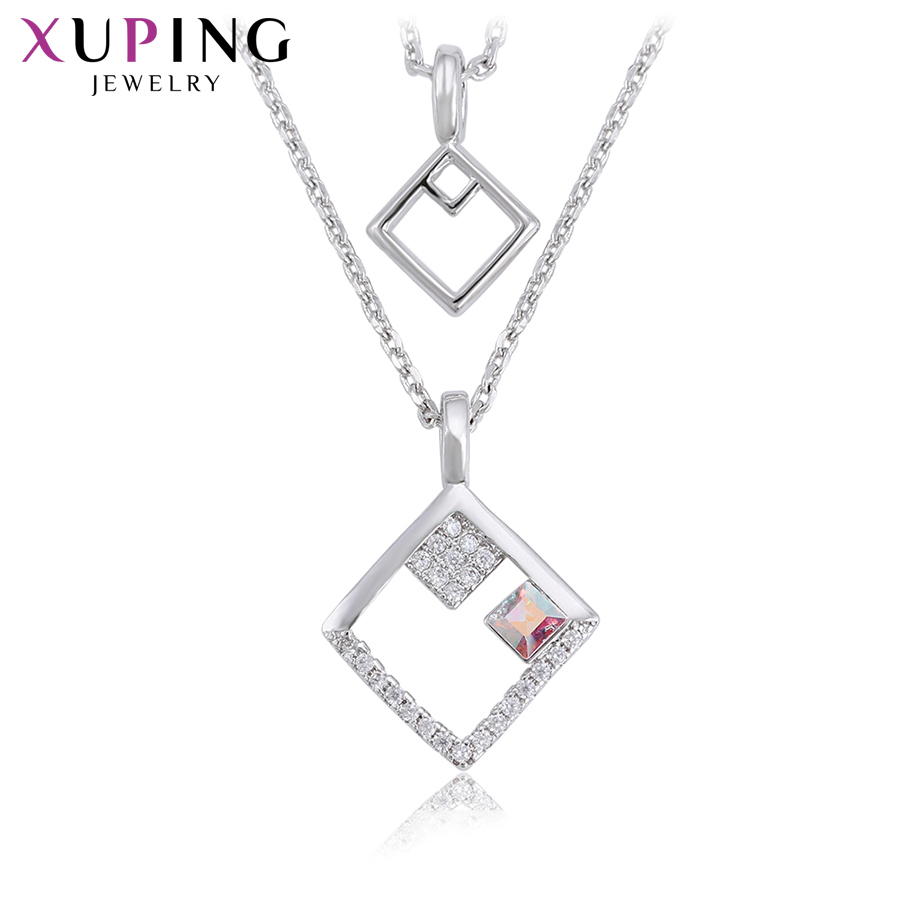 d641af963 Xuping Jewelry Charms Styles Necklace Crystals from Swarovski Embellished  With Sparkling Party Gift Women Girl S169