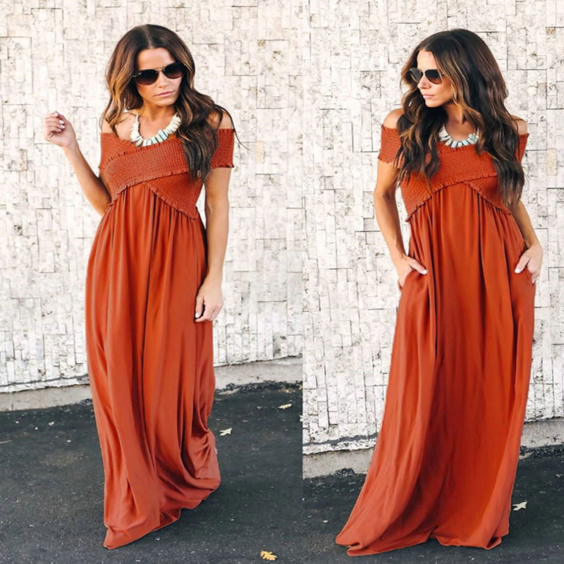 2018 Summer Hot Fashion Women Elegant Sexy Wrap Halter Dress Chic Design Wrapped V-neck Long Casual Dress Fashion party dress