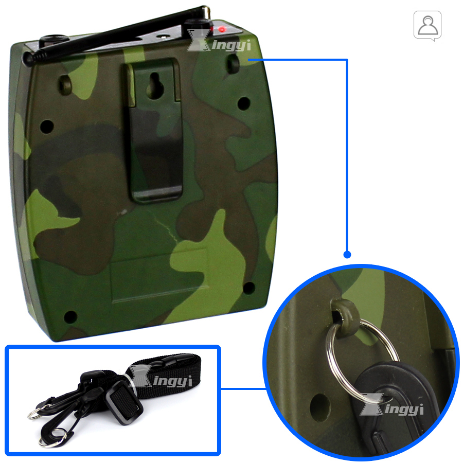 Купить с кэшбэком 2200mAh Camouflage Portable Digital 500m Wireless Remote Control Hunting MP3 Player Bird Caller Speaker Birds Sound Call Device
