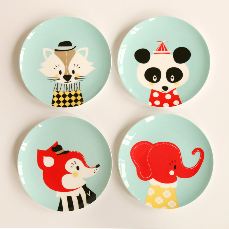 8 Inch Cartoon Cute Bone China Dishes Amp Plates Steak