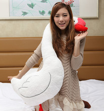 big creative plush swan pillow lovely white swan toy wedding gift doll about 118cm