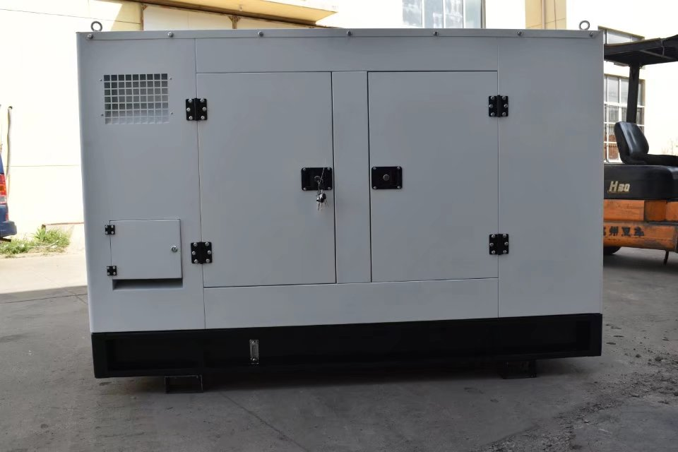 Chinese 30kw37.5kva soundproof diesel generator weifang silent diesel generator with brushless alternator and base fuel tank