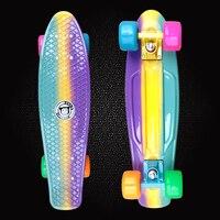 New Peny Fish Board 22 Printed Mini Cruiser Plastic Skateboard Trucks Long Board Children S Scooter