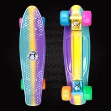 New Peny Fish Board 22 Printed mini cruiser plastic font b skateboard b font font b