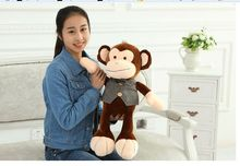 small lovely new plush happy monkey toy creative vest and bow monkey doll gift about 60cm