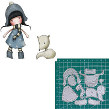 Little Fox new 2019metal cutting dies doll girls for scrapbooking and making paper cards