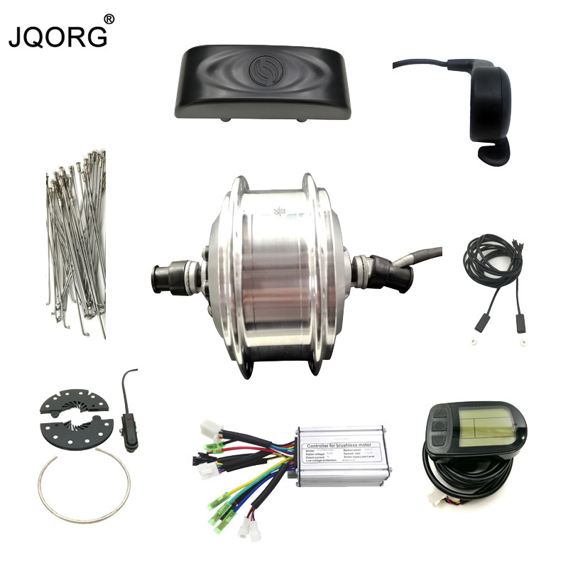 JQORG Front Wheel Driving 36V 250W Brushless DC Gear Hub Motor And Motor Kits For Bike Refit To Electric Bike Conversion Kits risunmotor 36v 250w electric handcycle folding wheelchair attachment handbike diy conversion kits with 36v 9ah li ion battery